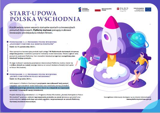 Ilustracja do informacji: Start-upowa Polska Wschodnia