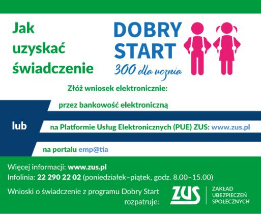 Ilustracja do informacji: Dobry Start 300+
