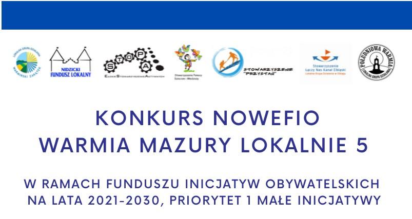 Ilustracja do informacji: Konkurs NOWE FIO Warmia Mazury Lokalnie 5
