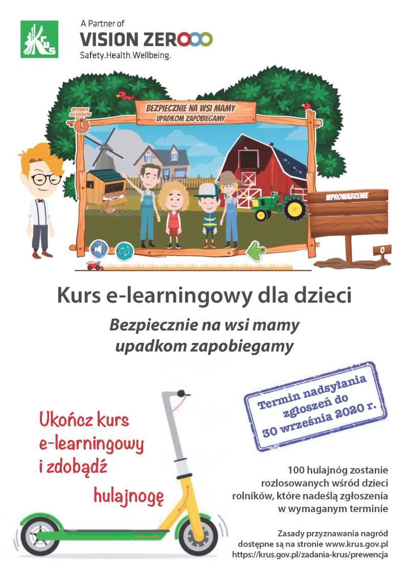 """Ilustracja do informacji: Kurs e-learningowego pt.""""BEZPIECZENIE NA WSI MAMY-UPADKOM ZAPOBIEGAMY""""."""